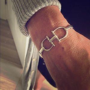 Beautiful equestrian insp. sterling sil. bracelet
